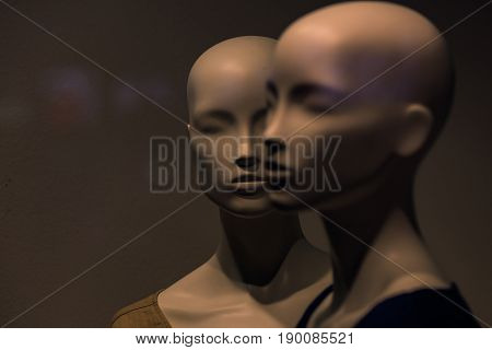 Dummy People, Fashion Woman On Grey Background, Business And Marketing