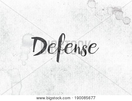 Defense Concept Painted Ink Word And Theme