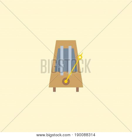 Flat Icon Metronome Element. Vector Illustration Of Flat Icon Rhythm Motion Isolated On Clean Background. Can Be Used As Metronome, Rhythm And Motion Symbols.