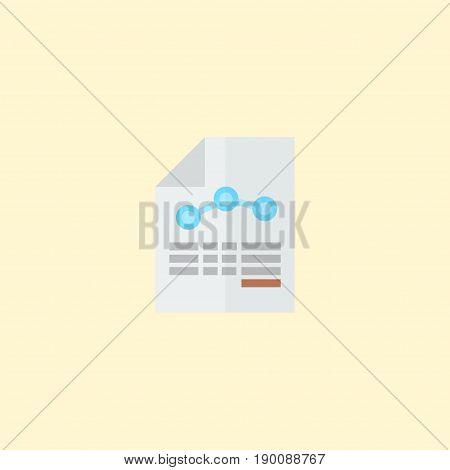Flat Icon Balance Sheet Element. Vector Illustration Of Flat Icon Paper Isolated On Clean Background. Can Be Used As Paper, Balance And Sheet Symbols.