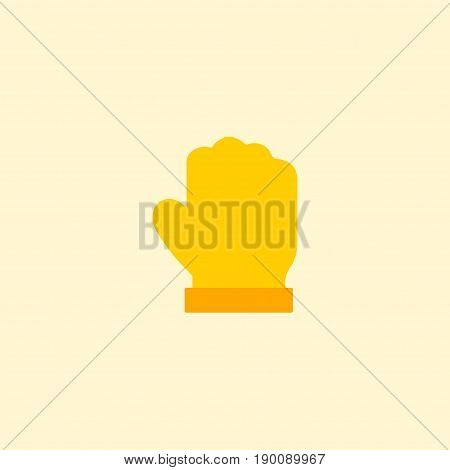 Flat Icon Gloves Element. Vector Illustration Of Flat Icon Latex Isolated On Clean Background. Can Be Used As Garden, Latex And Gloves Symbols.