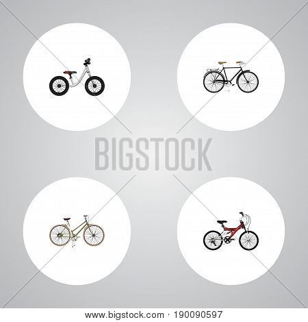 Realistic Fashionable, Adolescent, Equilibrium And Other Vector Elements. Set Of  Realistic Symbols Also Includes Adolescent, Woman, Equilibrium Objects.