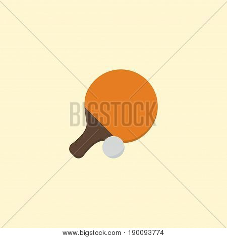 Flat Icon Ping Pong Element. Vector Illustration Of Flat Icon Table Tennis  Isolated On Clean Background. Can Be Used As Ping, Pong And Tennis Symbols.