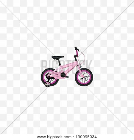 Realistic Kids Element. Vector Illustration Of Realistic Childlike  Isolated On Clean Background. Can Be Used As Childlike, Kids And Bike Symbols.