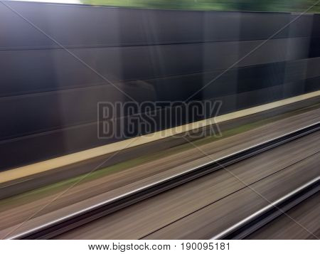 rails of railway. train ride