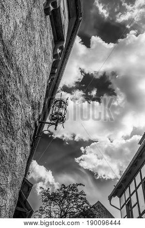 Street light. Details. Wartburg Castle in Eisenach Germany