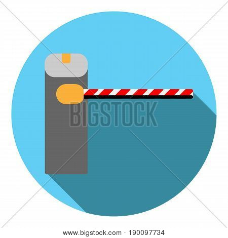 Vector image barrier on a round background