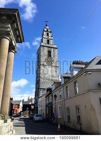 June 6th, 2017, Cork, Ireland - St. Anne's Church & Shandon Bells Tower, a church located in the Shandon district of Cork city in Ireland. It is situated atop a hill overlooking the River Lee.