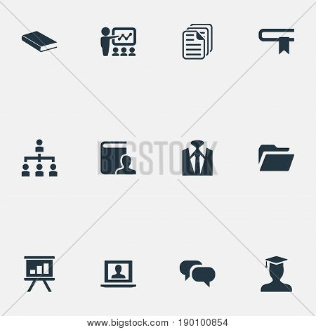 Vector Illustration Set Of Simple Speaker Icons. Elements Archive, Discussion, Guidebook And Other Synonyms Graduate, Guidebook And Message.