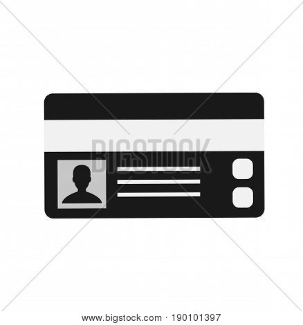 Driver's license identification card icon. ID Driver Card. Vector stock.