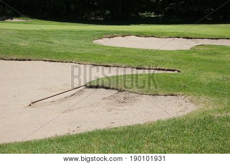 Sand Trap (bunker) of an outdoor golf course