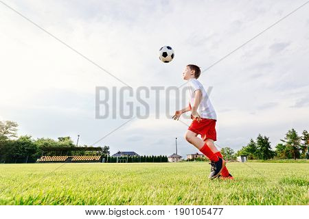 8 Years Old Boy Child Playing Football