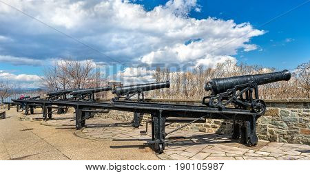 Old cannons in Montmorency Park of Quebec City, Canada