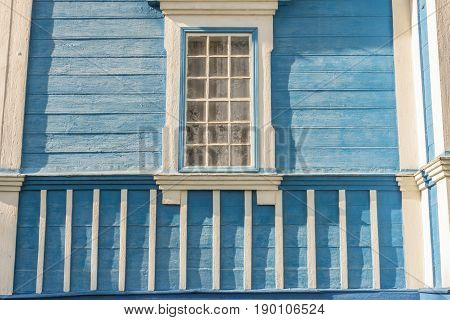 Wall of old wooden orthodoxy church - Ukraine Europe.