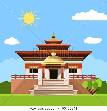 Temple of Heaven icon isolated on white background. Vector illustration for religion design.