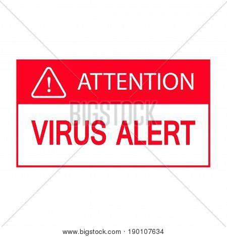 Computer virus alert icon isolated on white background