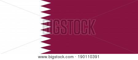 Flag of Qatar illustration of an official symbol