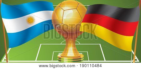 World Cup final in 2014 Argentina Germany