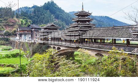 One From Several Chengyang Wind And Rain Bridges