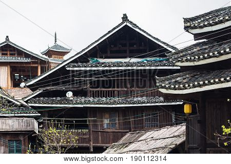 Wooden Rural Houses In Chengyang Village