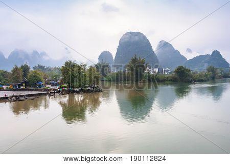 View Of Surface Yulong And Jinbao Rivers