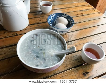 Served Local Chinese Breakfast In Rustic Eatery