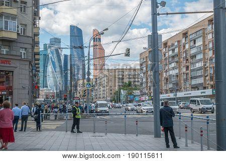 Russia, Moscow, June 7, 2017: Kutuzovsky Avenue