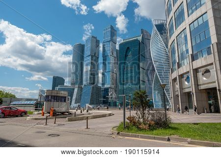 Russia, Moscow, June 7, 2017: Moscow City - Moscow International Business Center At Day.