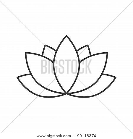 Spa salon flower linear icon. Thin line illustration. Aromatherapy lotus contour symbol. Vector isolated outline drawing