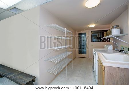 Basement Laundry Room Interior
