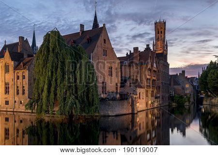 the beautiful old Town of Brugge Belgium
