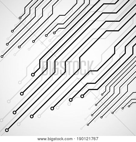 Circuit Board, Technology Background, Vector Illustration Eps 10