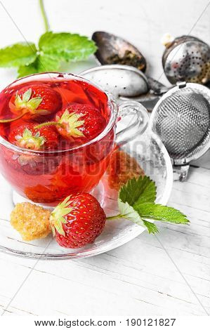 Fruit Tea With Strawberries