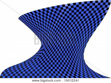 Op art in black and blue