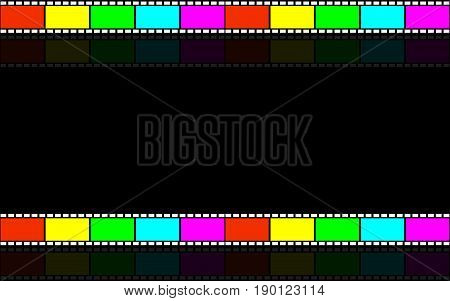 Cinematic background. Tape film. Videotape. Background for video presentations.