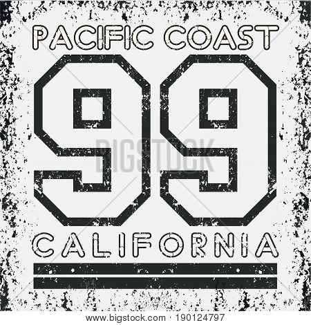T-shirt California atletics Typography Fashion CA sport design the logo the number of floral patterns graphic print image design fashion Typography original design clothing