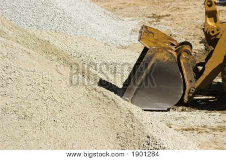Bulldozer And Gravel