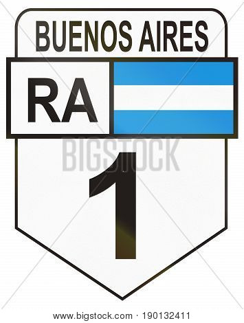Route Sign Of The Argentinian National Route 1