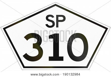 Highway Shield Of Sao Paolo In Brazil