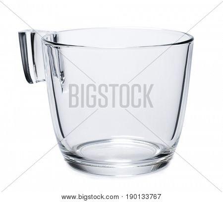 Empty Tea Glass Isolated