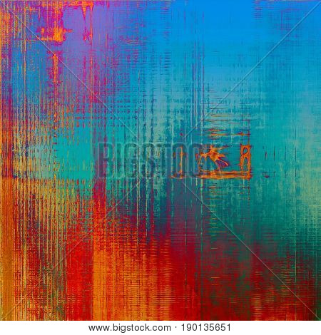 Art graphic texture for grunge abstract background. Aged colorful backdrop with different color patterns: blue; yellow (beige); red (orange); purple (violet); pink