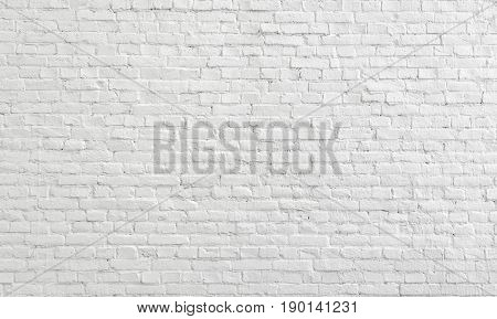 White old Brick Wall Texture Background. White urban Wallpaper interior