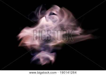 Abstract flame element isolated on black background