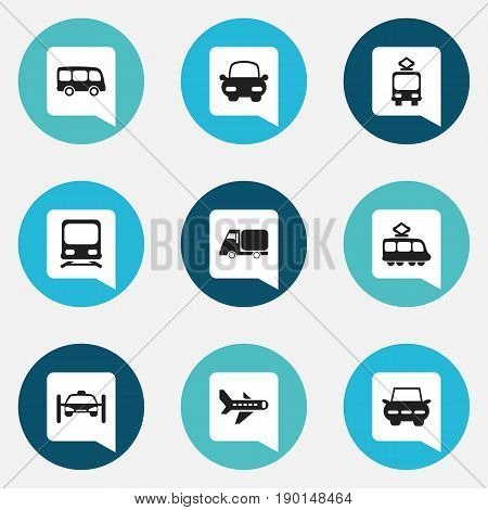 Set Of 9 Editable Shipment Icons. Includes Symbols Such As Washing Auto, Automotive, Wagon And More. Can Be Used For Web, Mobile, UI And Infographic Design.