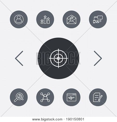 Set Of 9 Engine Outline Icons Set.Collection Of Arrangement, Guest, Style And Other Elements.