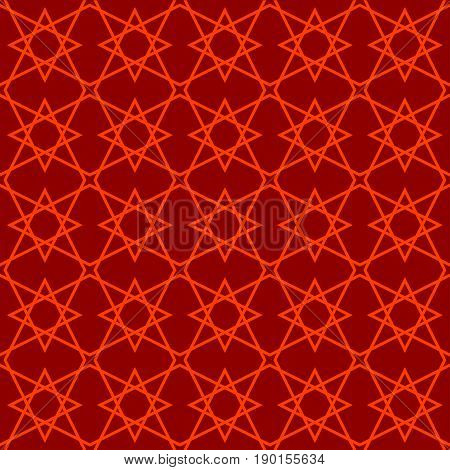 seamless pattern in islamic style. arabic red star pattern. background for islamic invitations and greeting cards. ornamental decoration in eastern style. ramadan kareem islamic - stock vector