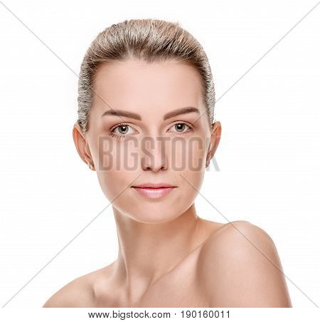 Portrait of attractive young sensual woman with discerning look