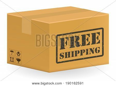 brown package product box with free shipping