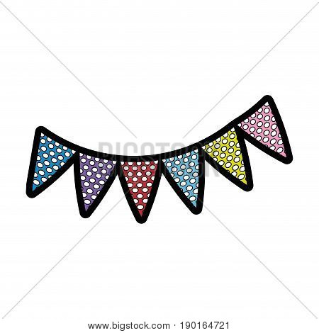 pennants decoration party icon vector illustration graphic design