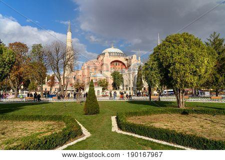 Hagia Sophia In Istanbul.turkey